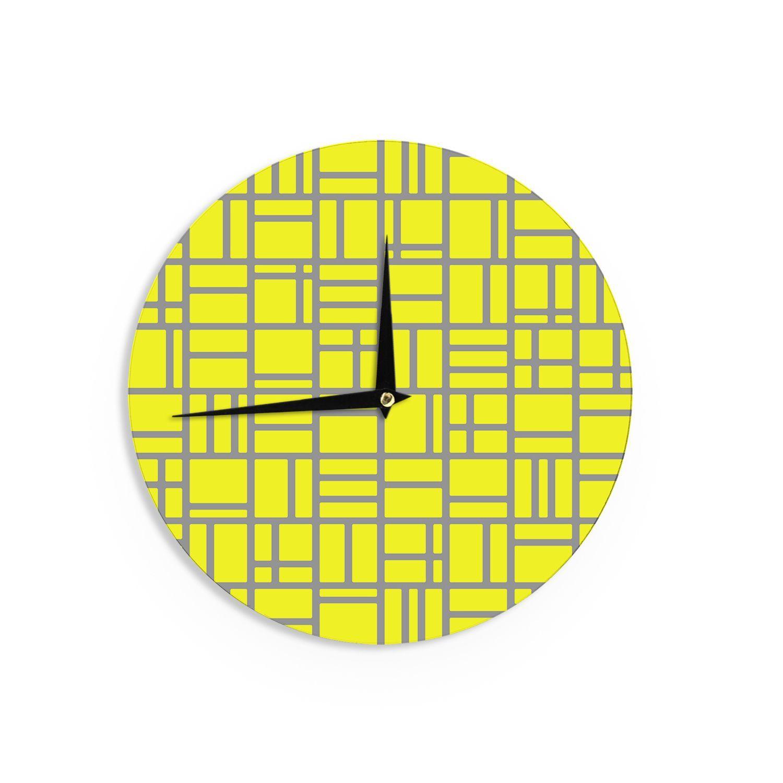 Kess inhouse trebam ukutije vu yellow digital wall clock kutije v