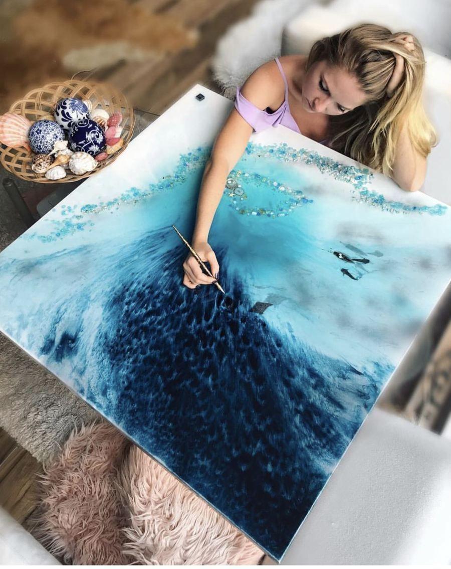 Ocean resin art sydney antuanelle originals prints