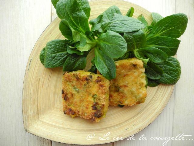 Galettes de poireau et tofu aux flocons d'avoine   Blog de cuisine bio : Le cri de la courgette...