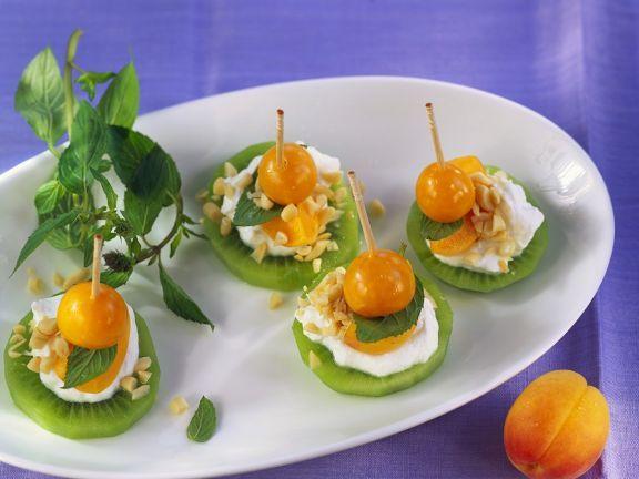 Exotische Fruchthäppchen ist ein Rezept mit frischen Zutaten aus der Kategorie Südfrucht. Probieren Sie dieses und weitere Rezepte von EAT SMARTER!