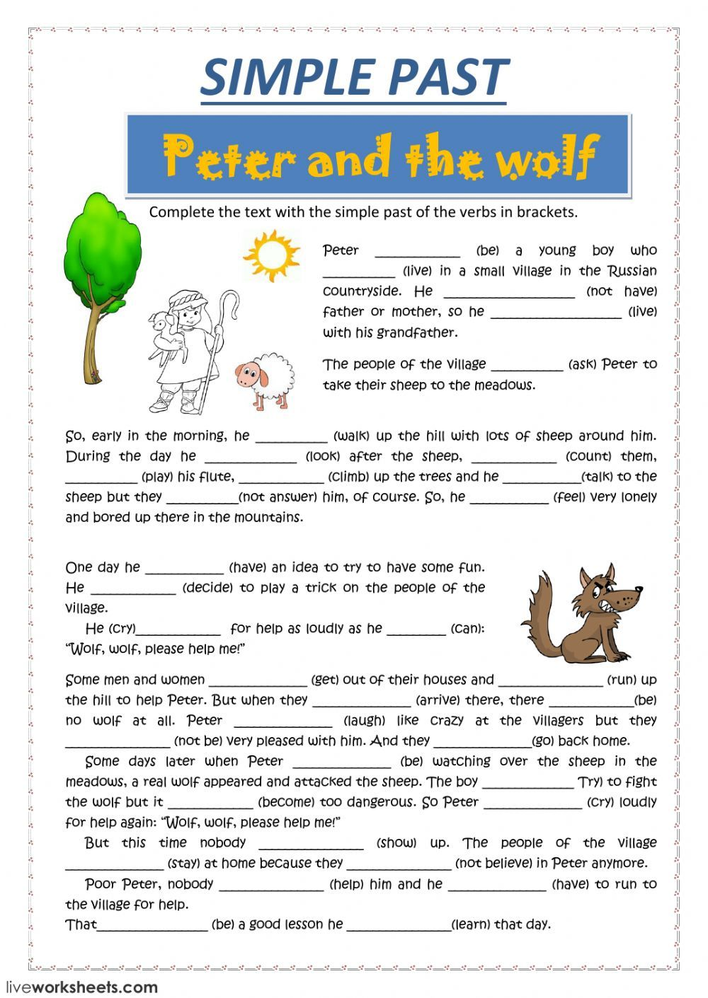 Past Simple Interactive And Downloadable Worksheet You Can Do The
