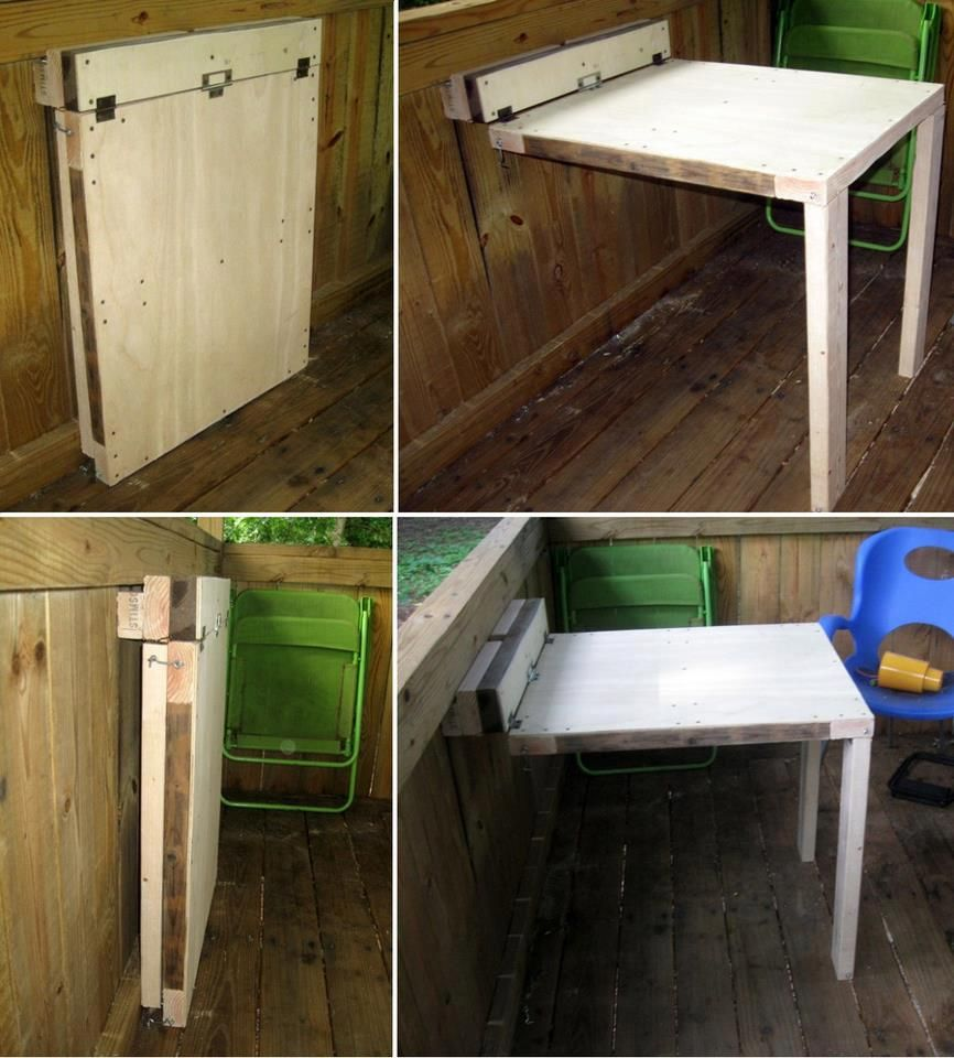 Fold down table home design ideas - Table Would Be Great In A Tiny House Paint A Design On The Top