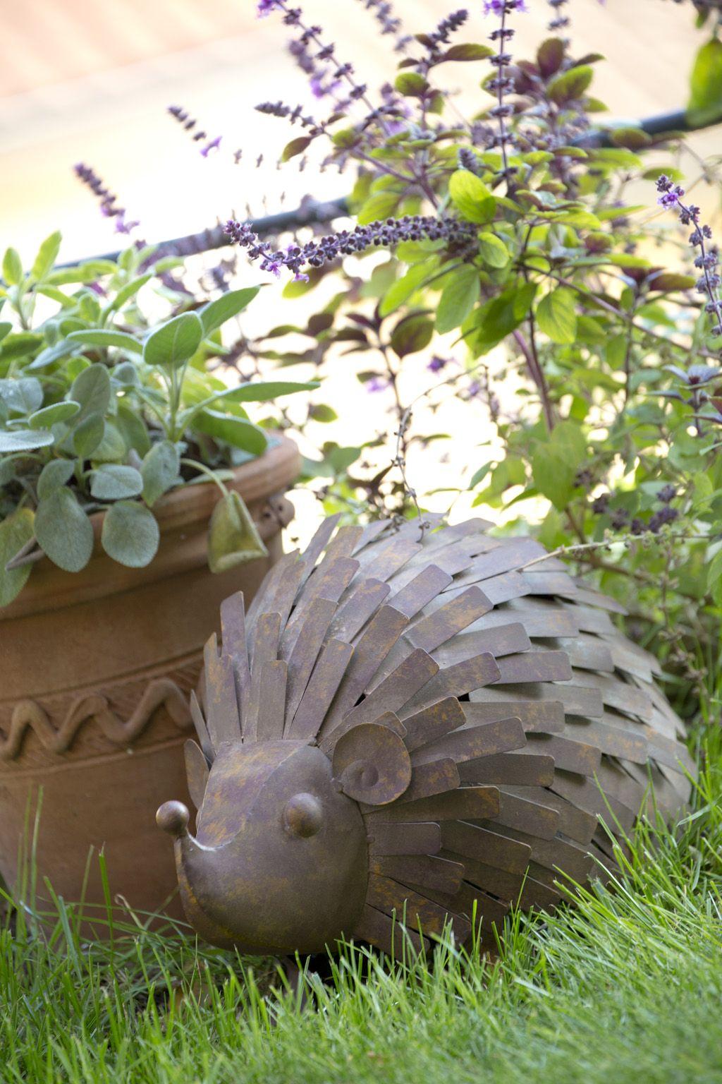Hérisson en métal - Sujet de décoration pour le jardin ...