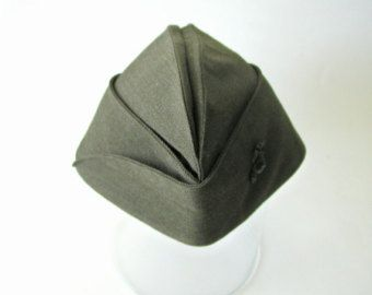 vintage usmc us marine corps green garrison cap hat size 6 7 8