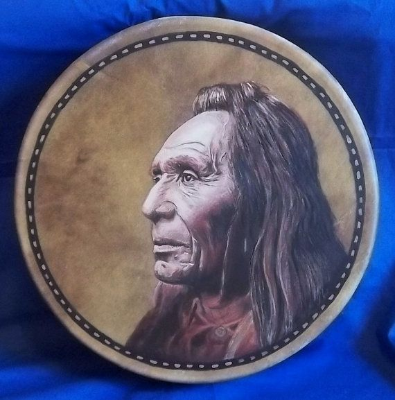Hand Painted Native American Style Drum by StuARTdrums on Etsy, $485.00