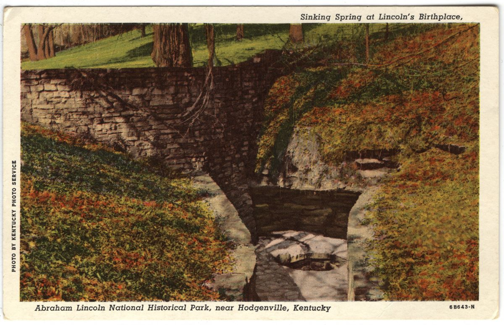 Sinking Spring On Lincoln S Birthplace Hogenville Ky With Images Sinking Spring Lincoln Financial Photo Service