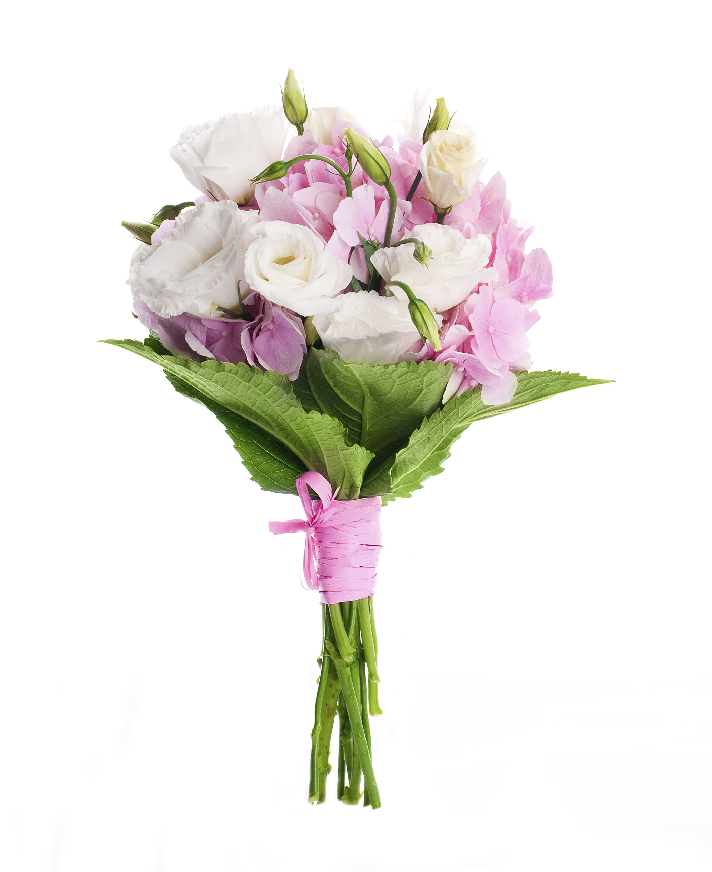 Wedding Spring Flowers: Spring Flowers In Loosely Wrapped And Hand-tied Bouquet. A