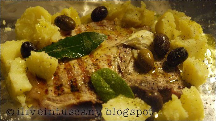 Cartoccio con bistecche olive e patata