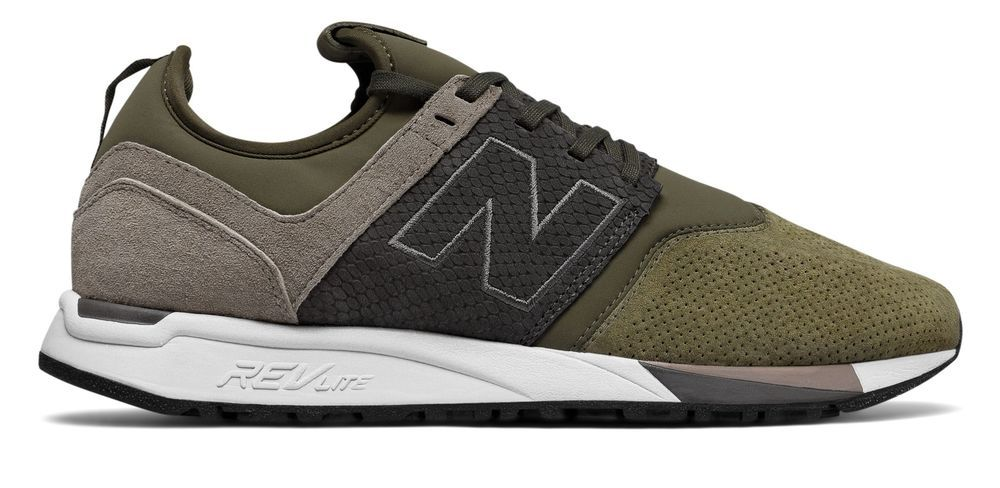 b977d157b5504 $34.99 (71% off) New Balance Men's 247 Luxe Shoes Green with Tan #mens # shoes #deals #discounts