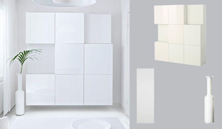 Witte bestÅ kasten met deuren in hoogglans wit decoratie in 2019
