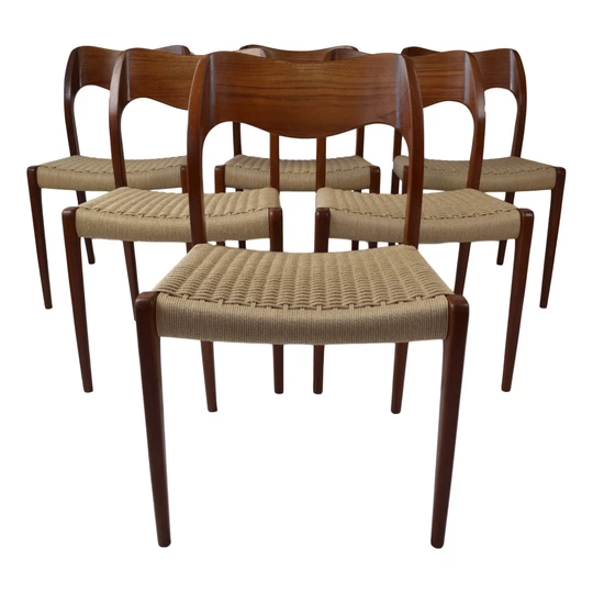 Niels O Moller Model 71 Teak Dining Chairs Produced By J L Mollers Webb S Mid Century