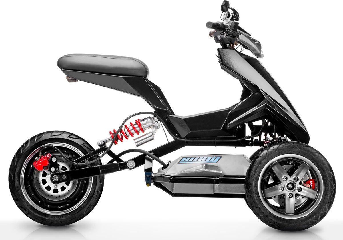 sway lithium un 3 roues lectrique 100 fun electrique roue et bicyclette. Black Bedroom Furniture Sets. Home Design Ideas