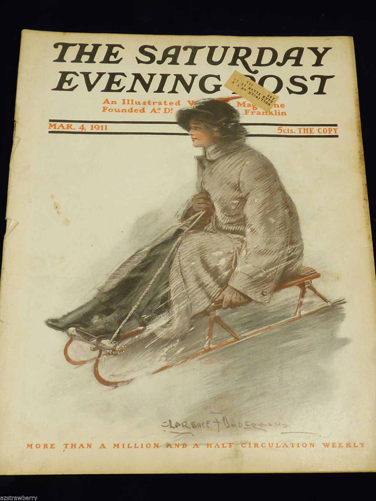 VTG Rge Saturday Evening Post Magazine March 4 1911 Illustrated - Magazine Back Issues