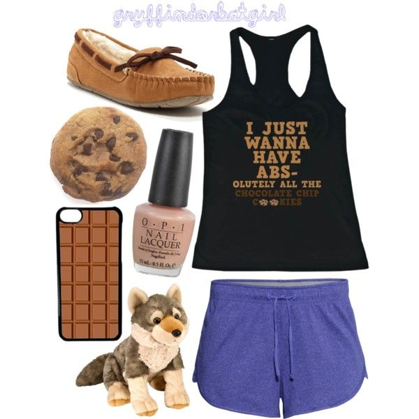 Pajamas (Lupin Style) by gryffindorbatgirl on Polyvore featuring polyvore, fashion, style, H&M, UNIONBAY, CellPowerCases, OPI, harrypotter, chocolate, Marauders, remuslupin and Moony