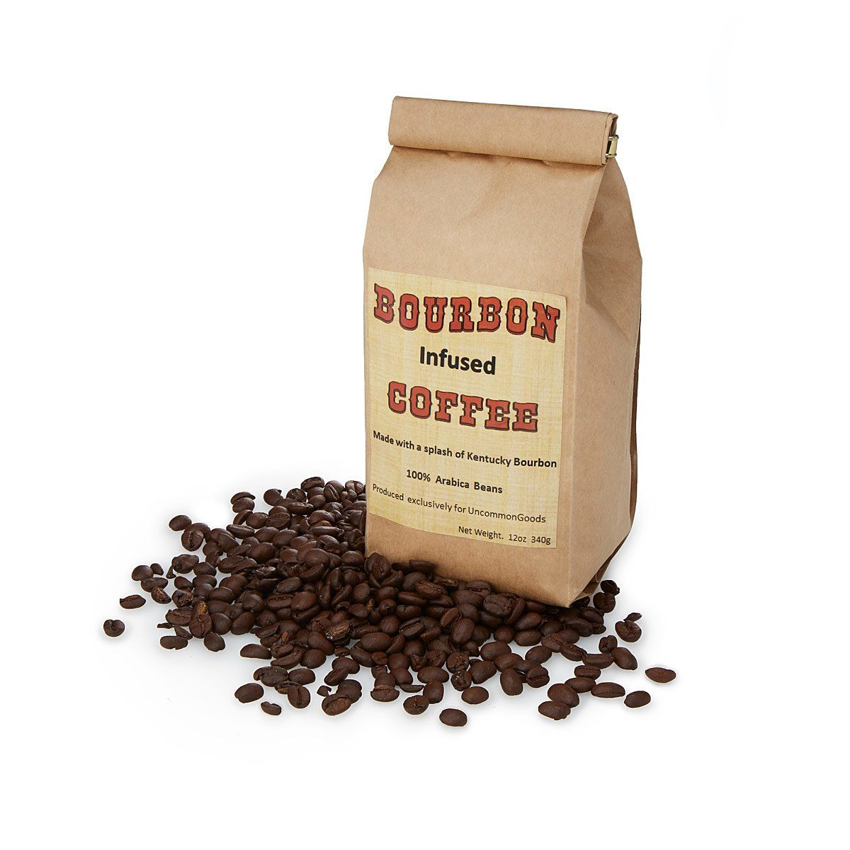 Bourbon infused coffee whiskey flavored coffee beans