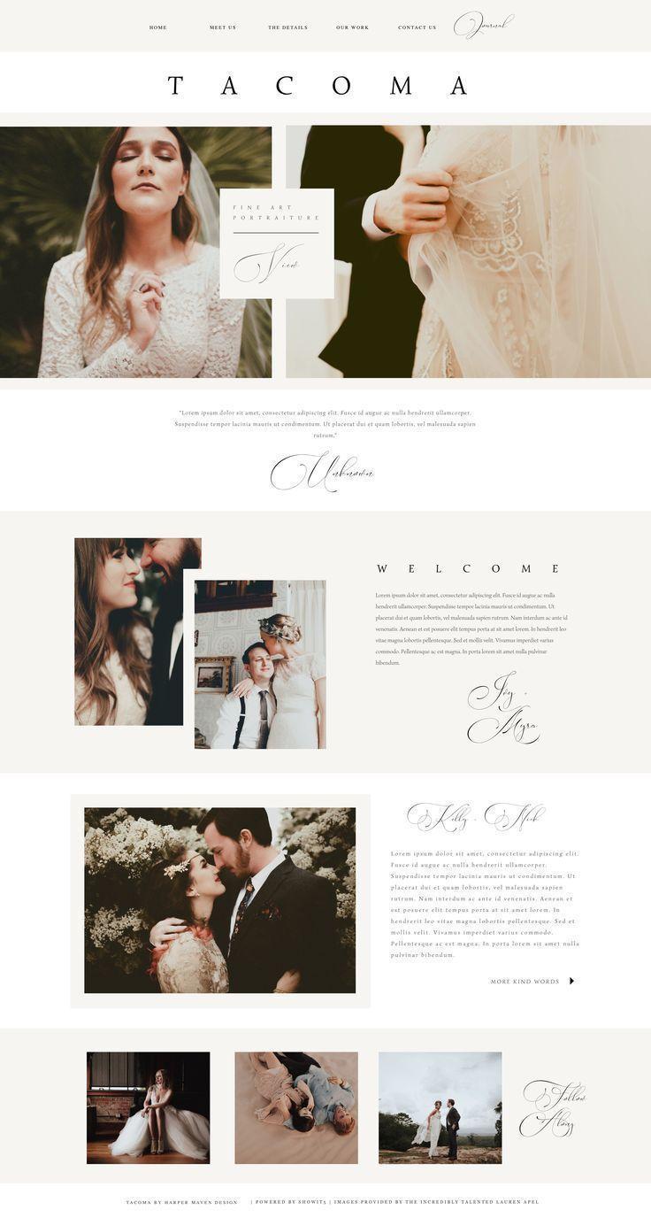Tacoma Showit Website Template Pre Made Photography Website Template Harper Maven Des Photography Website Design Wedding Website Design Photography Website