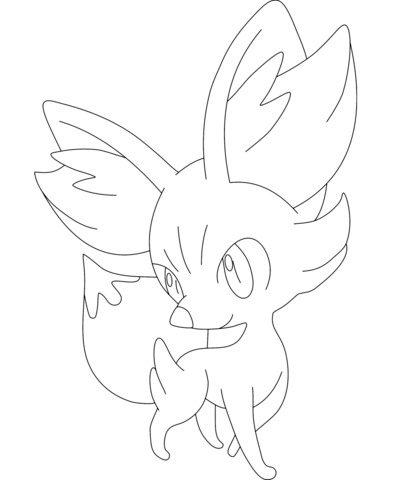 Fennekin Coloring page Colouring