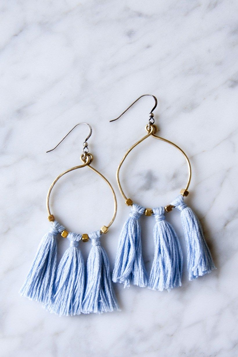brass bead & tassel earrings | diy tassel, tassels and diy accessories