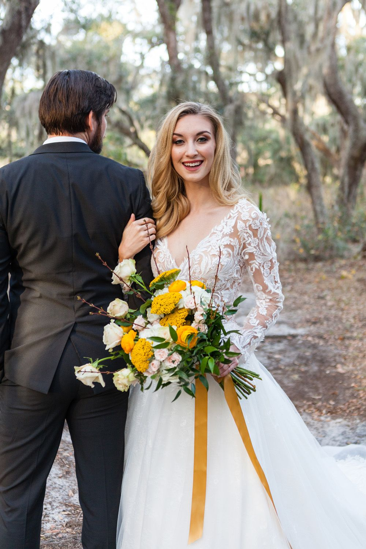 Spring Awakening Styled Shoot Black wedding dresses