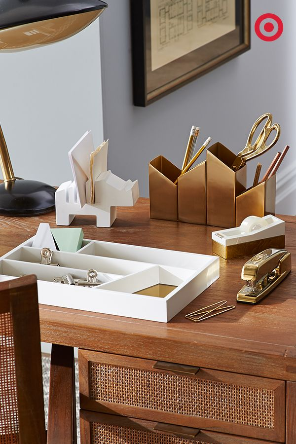 Spruce Up Your Workspace With Beautifully Gold Accented Nate Berkus Office  Supplies That Up The Style Factor On Nearly Any Desk.