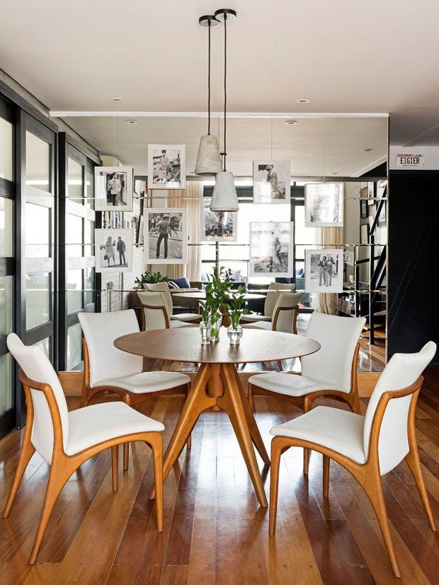 Una pared de espejos en el comedor es una idea genial! Puede ...