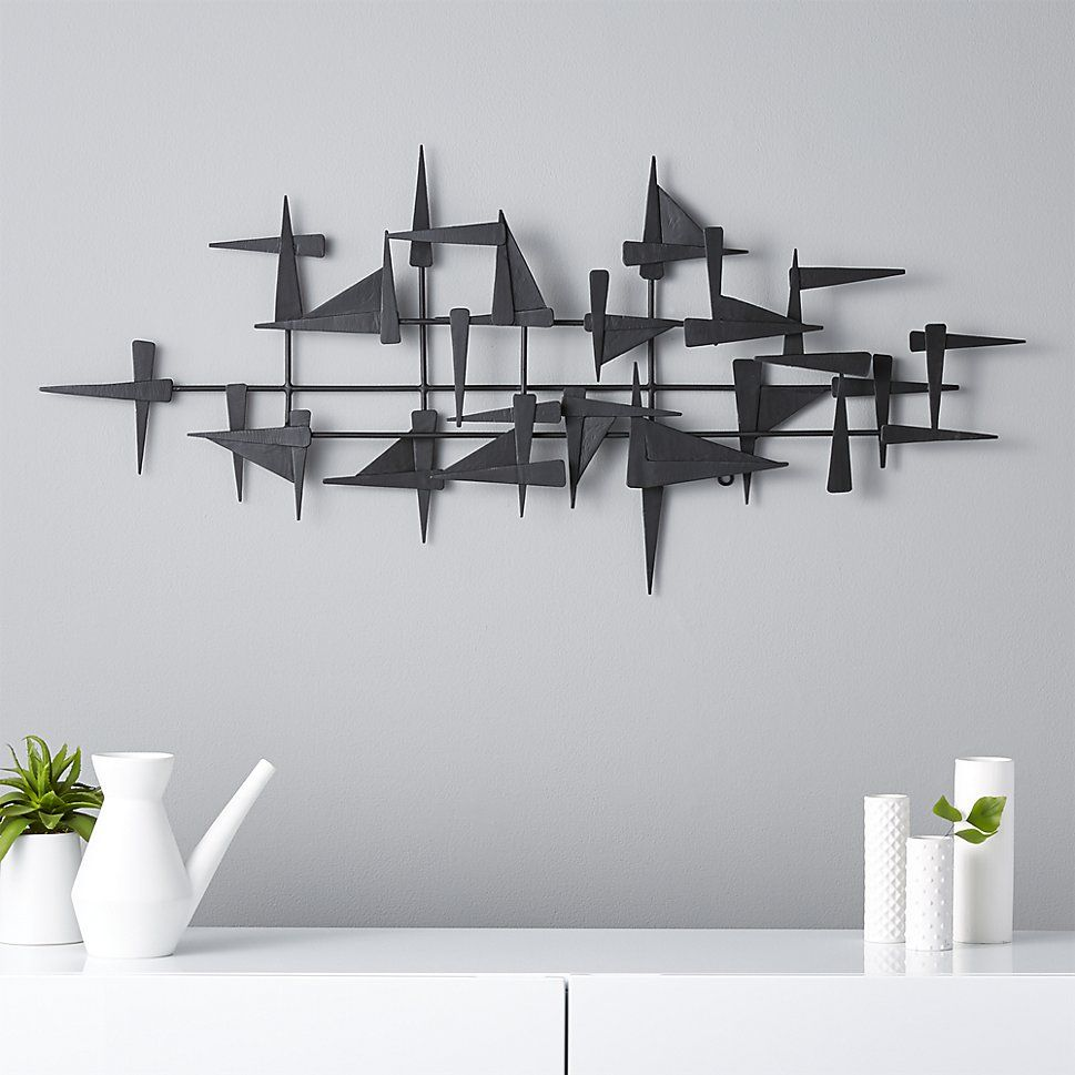 Modern airplane metal wall decor