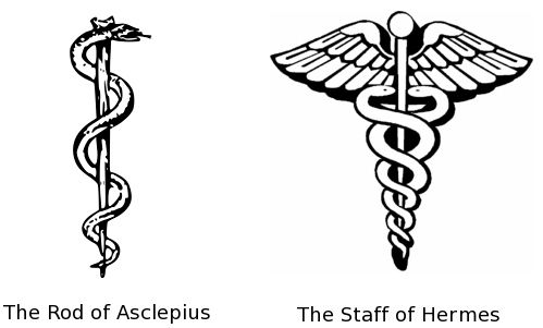 Rod Of Asclepius And Hermes Tatoo Pinterest Symbols Tattoos