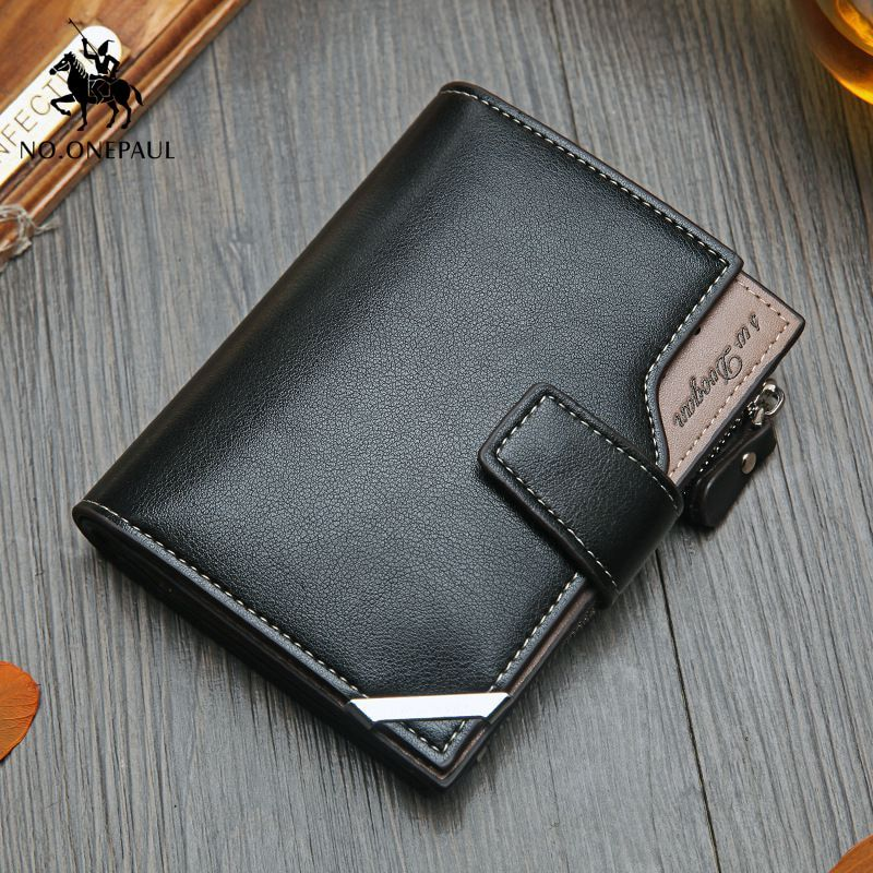 Customized Mens Bifold Credit Card Holder Wallet Slim Clutch Purse with Id Window Long Wallet