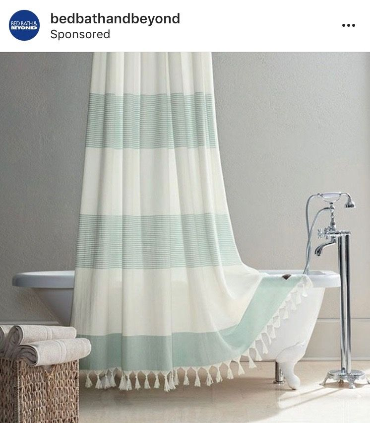 Pin By Rebecca On Home Cabana Bath Striped Shower Curtains