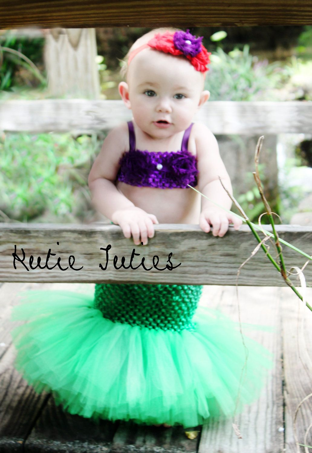 The Original Little Mermaid Tutu Dress Tail, Top, & Headband ...