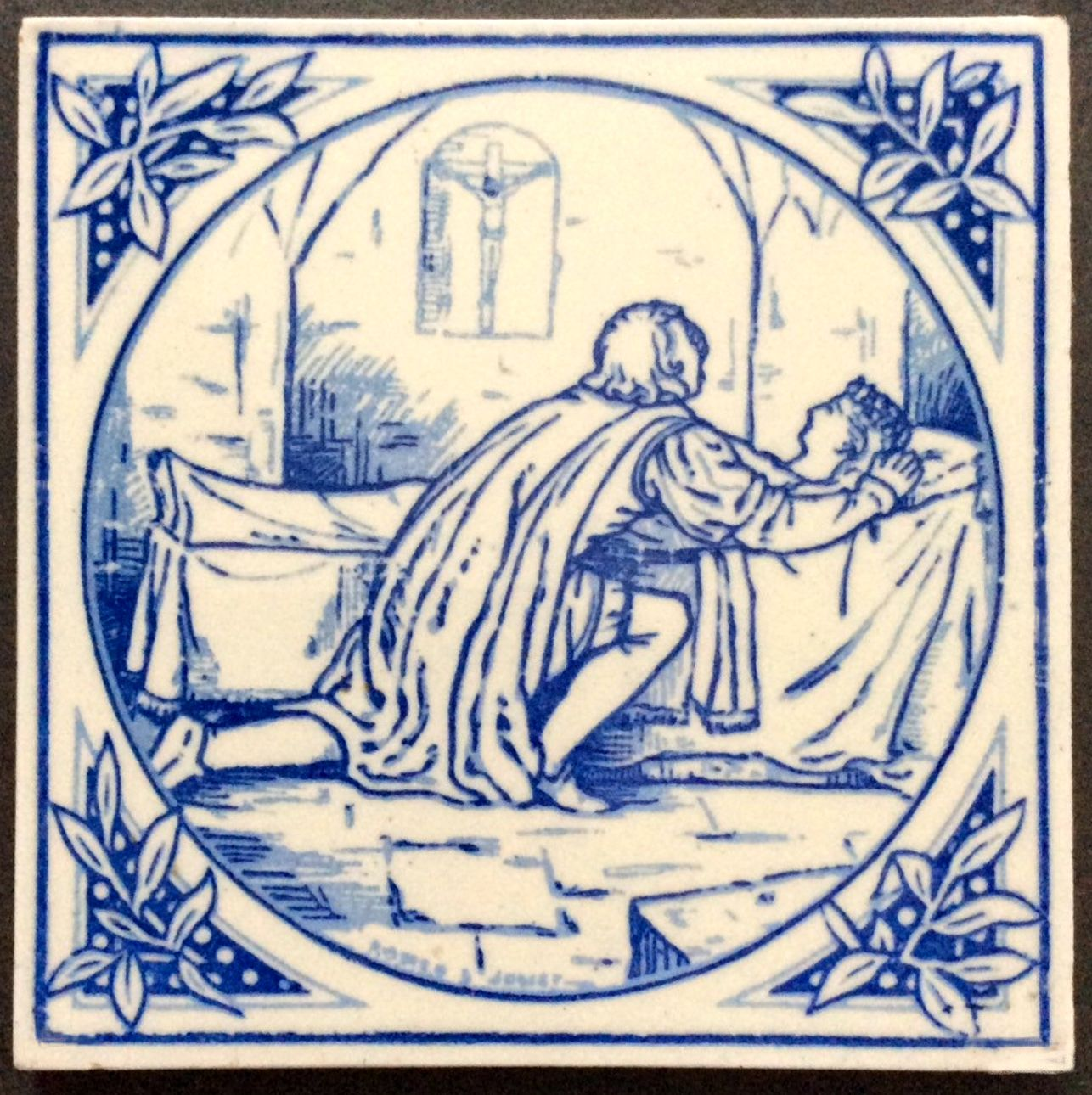 Minton hollins co romeo and juliet tile old tiles 2 ceramic art minton hollins co romeo and juliet tile dailygadgetfo Gallery