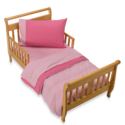 4-Piece Toddler Bedding Set in Pink Petal