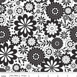 Evening Floral Black and White... Happy black and white :-)