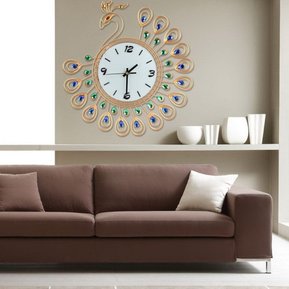 Furniture Large Decorative Wall Clocks With The Design Of A Very Beautiful Bird For A Large Wall Clock Appealing Large Decorative Wall Clocks