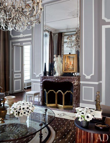 This American Couples Paris Home Celebrates French Style Design InteriorsTraditional