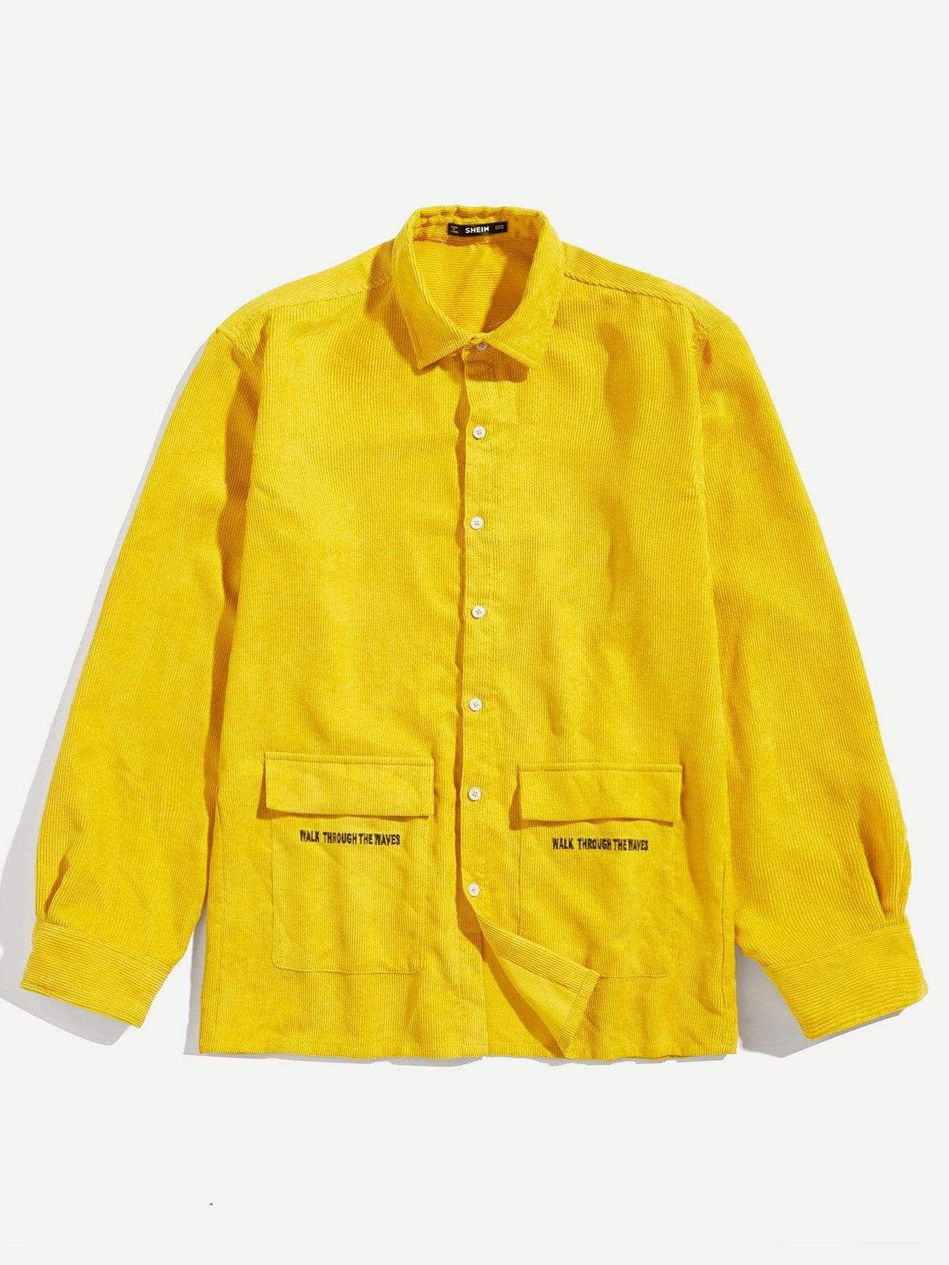e4222dfa0e Men Pocket Front Corduroy Shirt in 2019   jacek