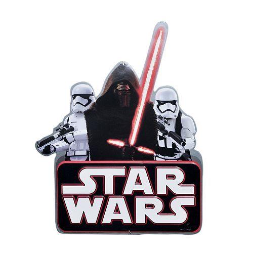 Star Wars Tin Metal Wall Plaque Stormtrooper The Force Awakens