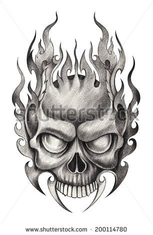 skull tattoo stock photos images amp pictures