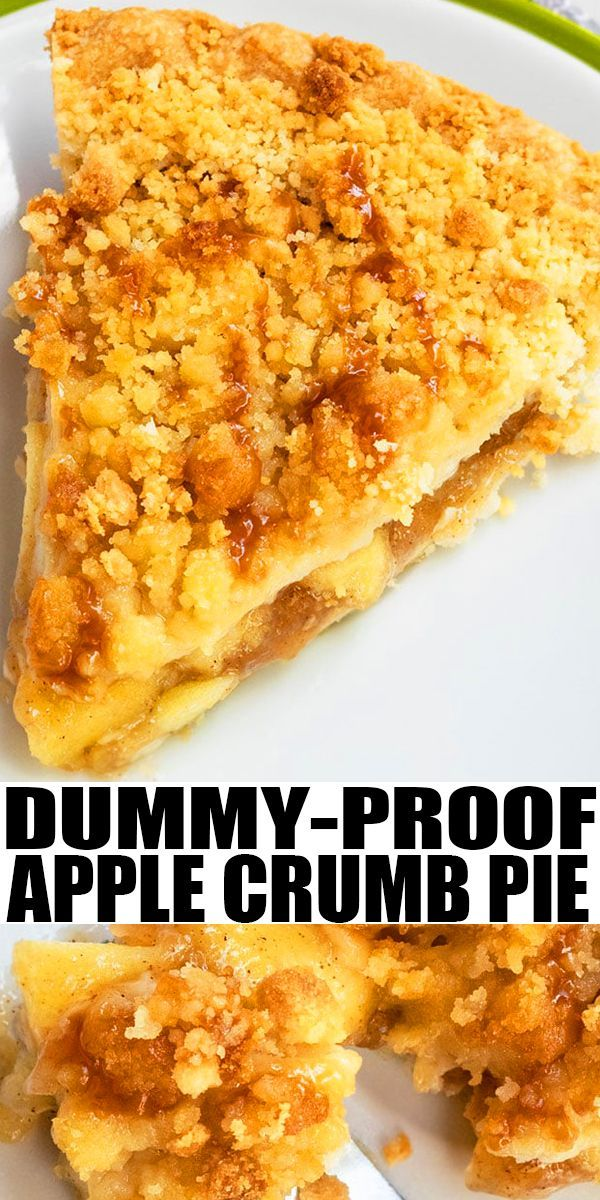 Easy Apple Crumble Pie #applepierecipe