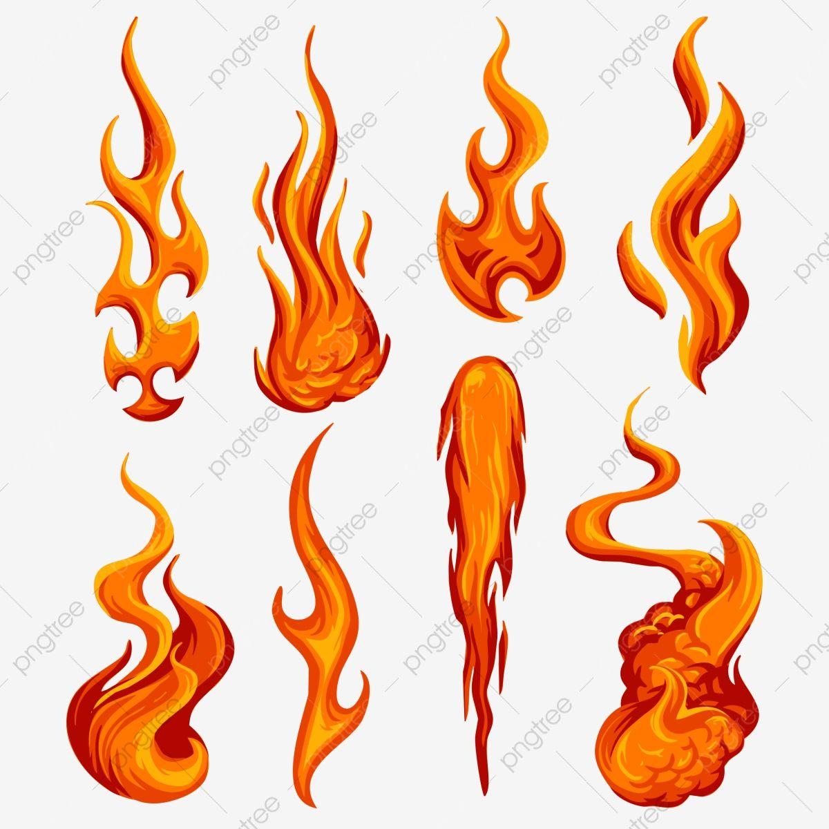 Vetor De Chamas De Fogo Definir Ilustracao Clipart De Fogo Chama Fogo Png Imagem Para Download Gratuito Fire Sketch Fire Drawing Fire Art