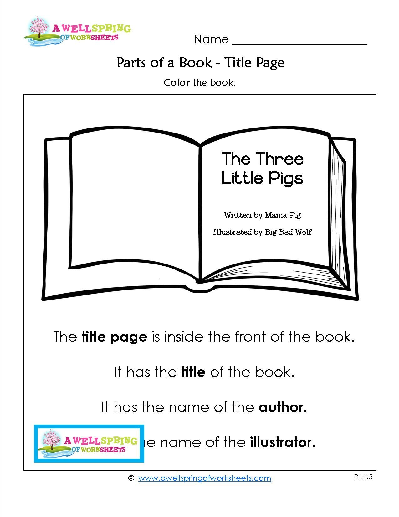 Parts Of A Book Worksheets And Vocabulary Cards Great Addition To Your Lessons About Concepts Of Pr Parts Of A Book Vocabulary Cards Kindergarten Worksheets [ 1650 x 1275 Pixel ]