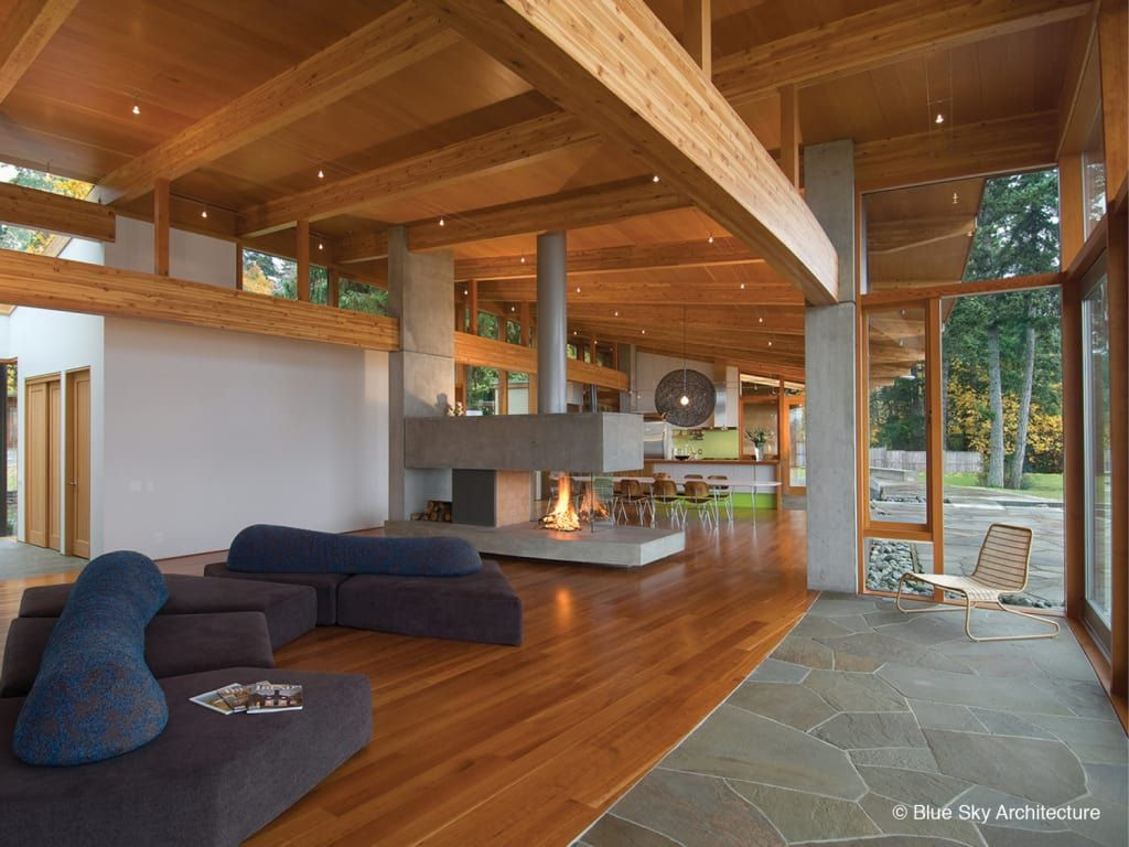 Modern living room by helliwell + smith • blue sky