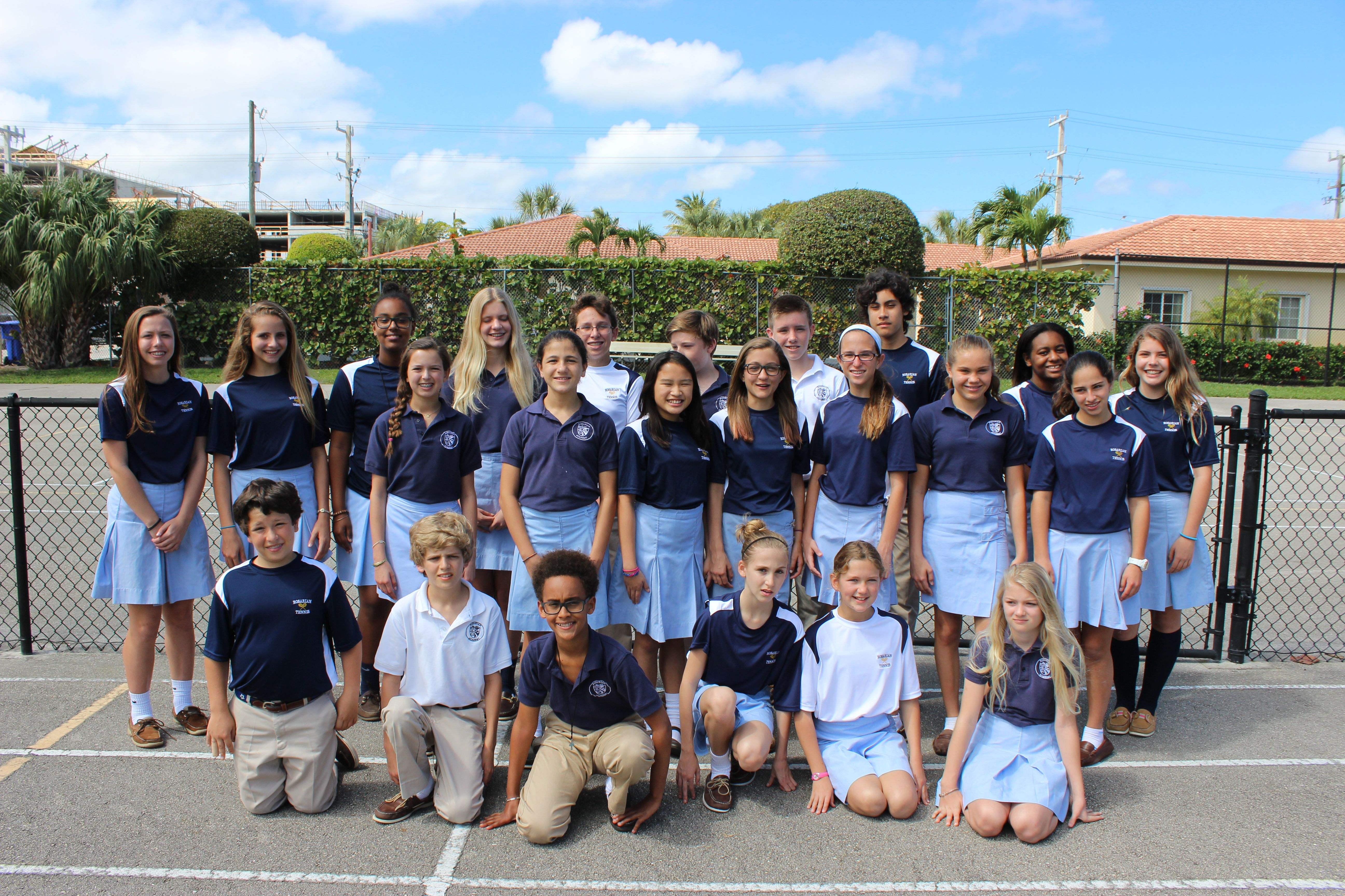 Rosarian Academy S Tennis Team Gearing Up For A Great Season Private School Tennis Team Catholic School