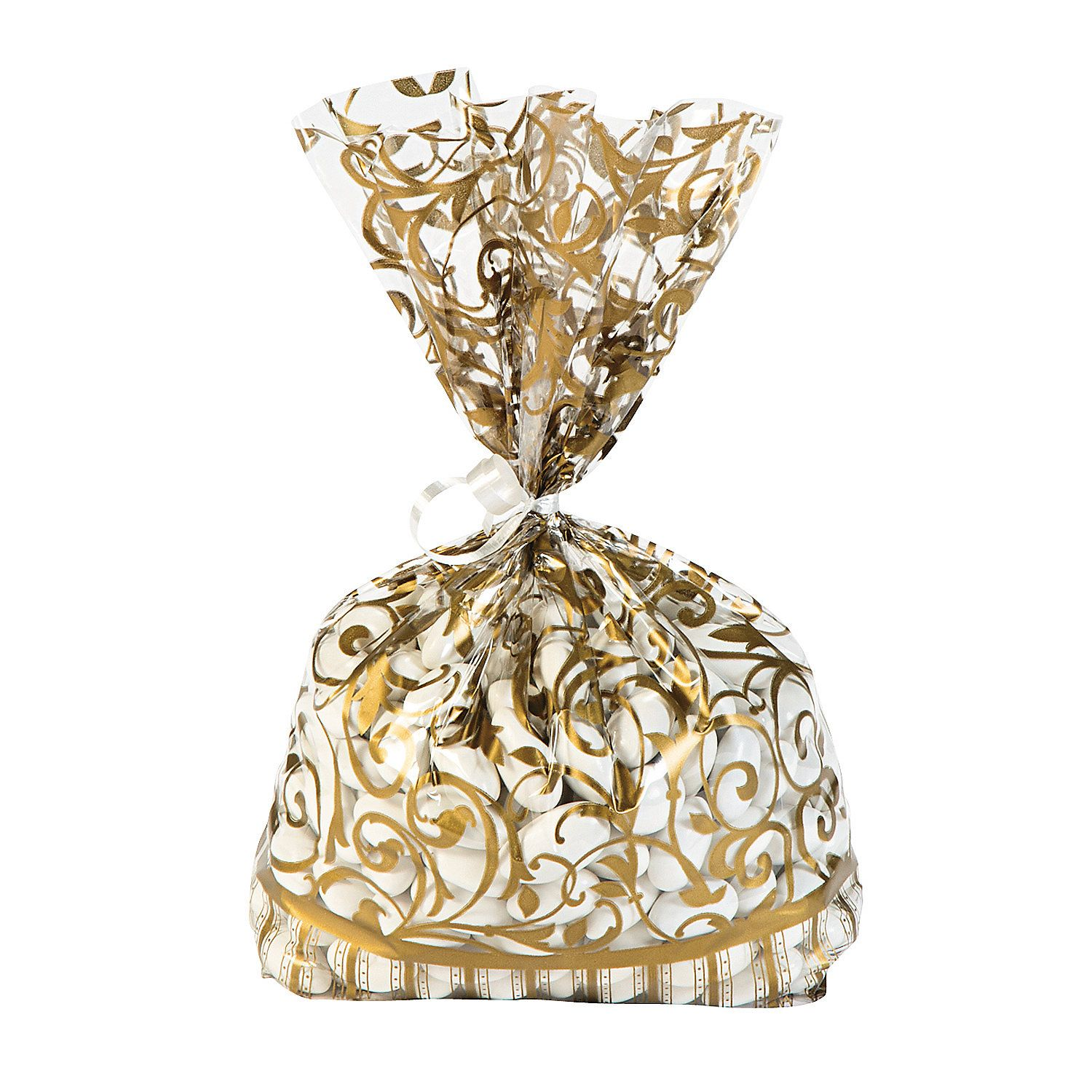 Gold Swirl Cellophane Bags | Favors, Wedding candy bars and Greek ...