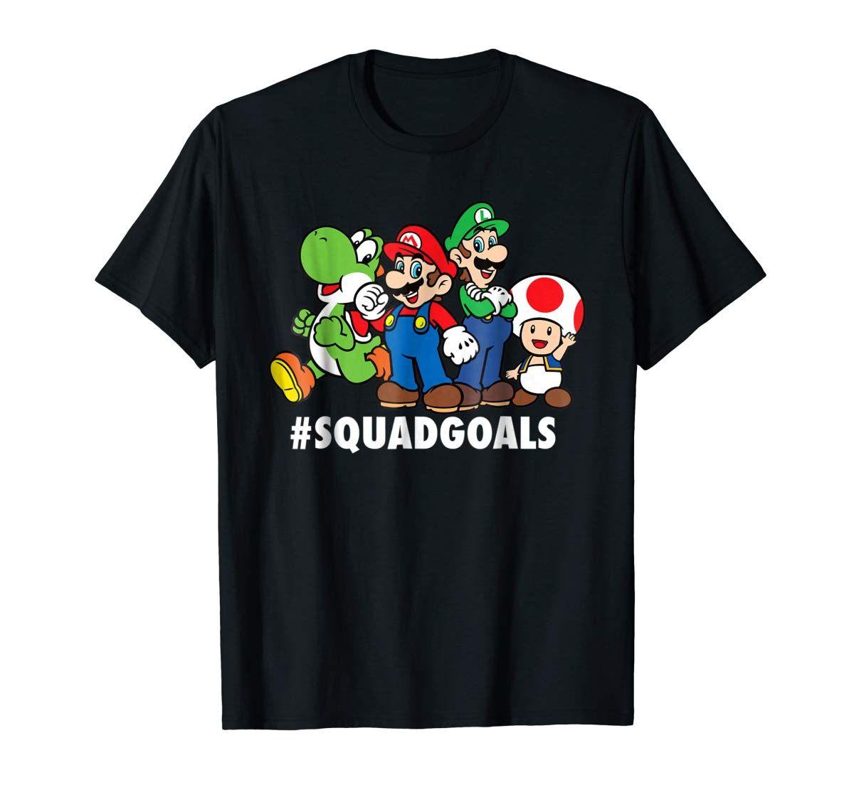 Nintendo Super Mario Luigi Yoshi Toad Squadgoals Men S T Shirt Super Mario And Luigi Mens Tshirts Super Mario [ 1121 x 1200 Pixel ]