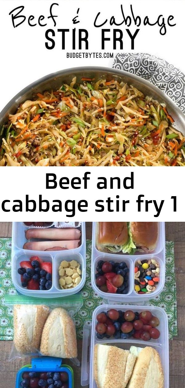 Beef and cabbage stir fry 1 This fast and easy Beef and Cabbage Stir Fry is a filling low carb dinner with big flavor Tips for packing better lunches for your kids to tak...