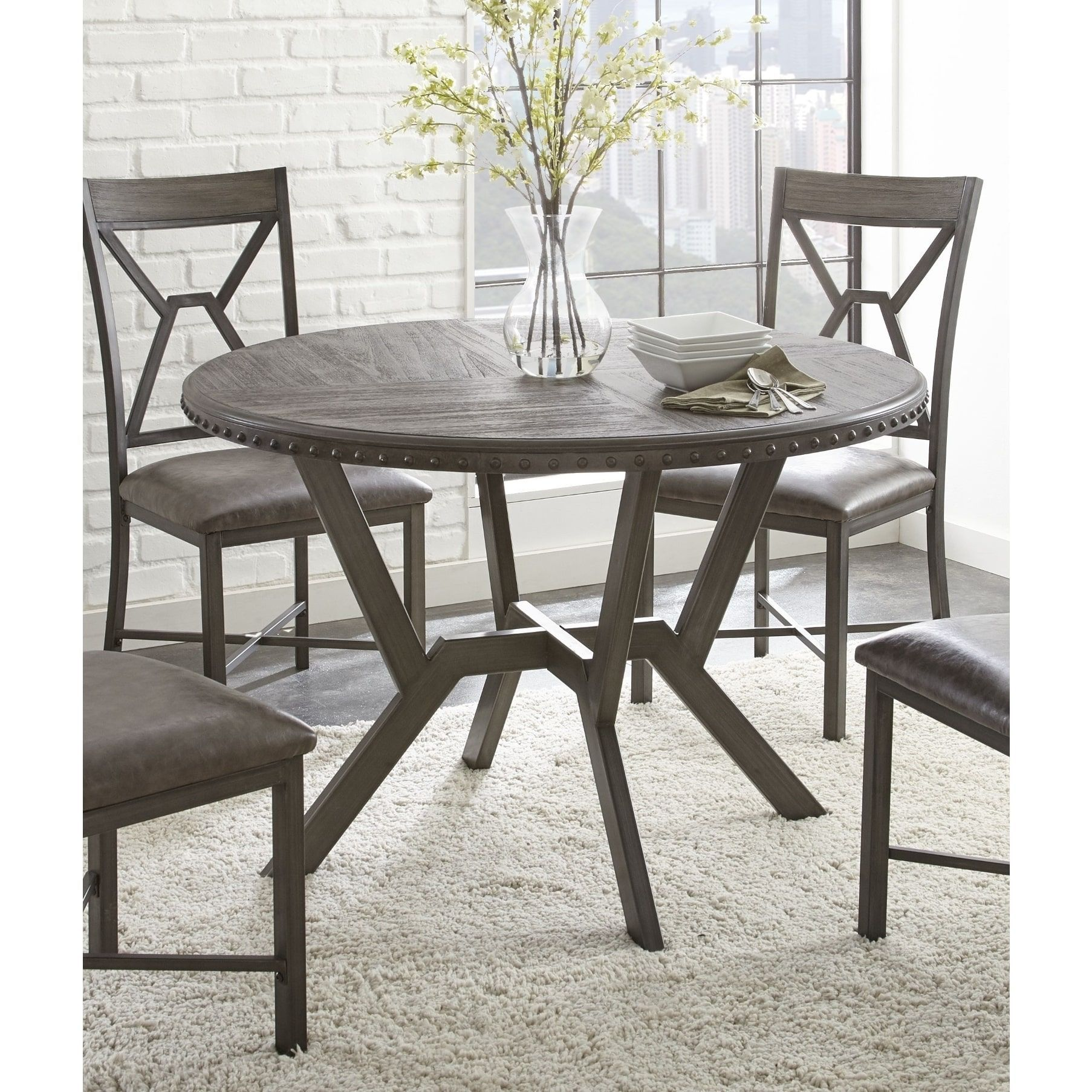 Asbury 45 Inch Round Dining Table By Greyson Living