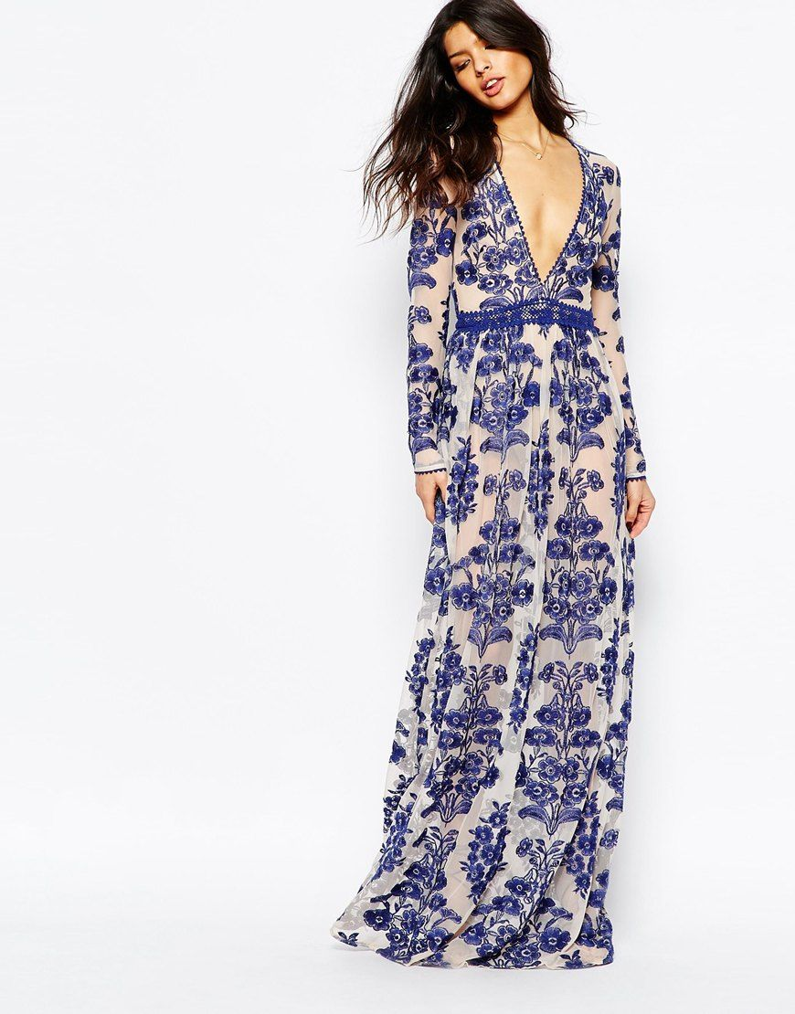 k dash maxi dress embroidered