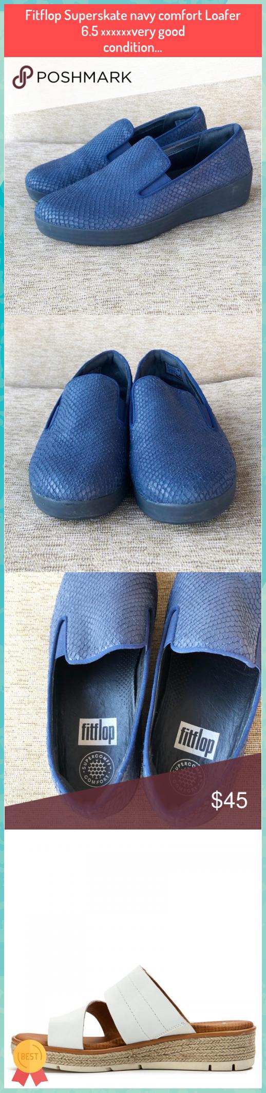 Fitflop Superskate navy comfort Loafer 6.5 ⭐️⭐️⭐️very good condition... #Fitflop #Superskate #navy #comfort #Loafer #6.5 #⭐️⭐️⭐️very #good #condition...