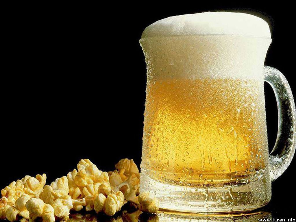 Image result for beer and popcorn